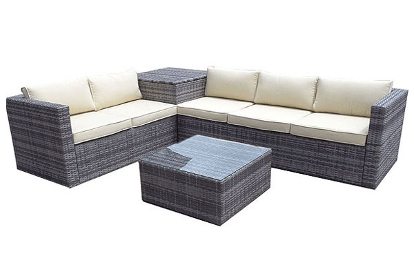 *NEW* 5 seater outdoor rattan corner set