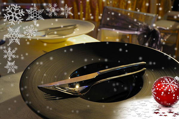 Christmas cutlery & crockery hire