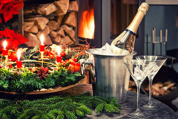 What glassware hire is popular at Christmas?