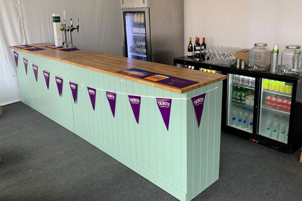 Country kitchen style bar hire