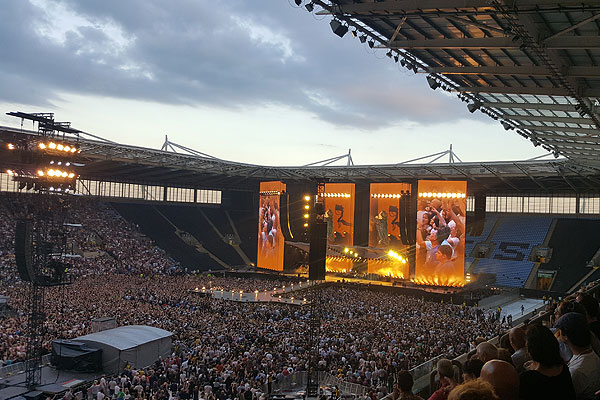 Event Hire UK at Rolling Stones concert