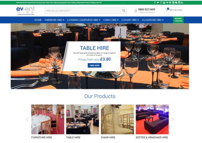 New look for Event Hire UK website