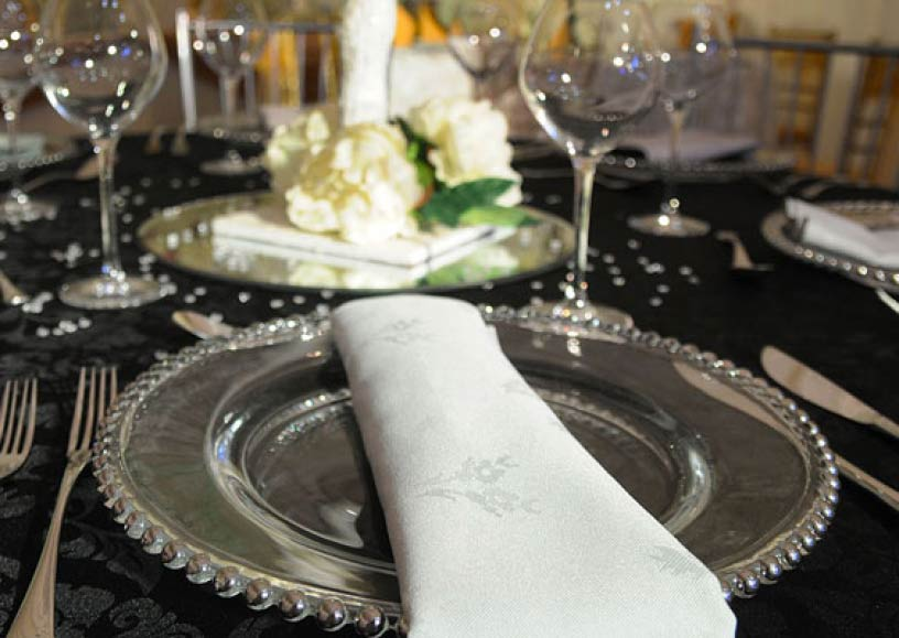 Gold & silver beaded plates for special events & occasions