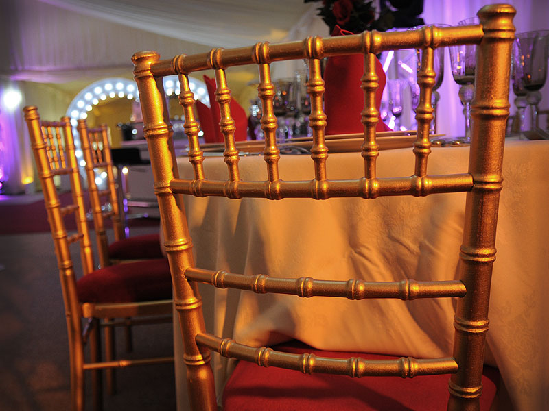 Gold Chiavari wedding chair hire