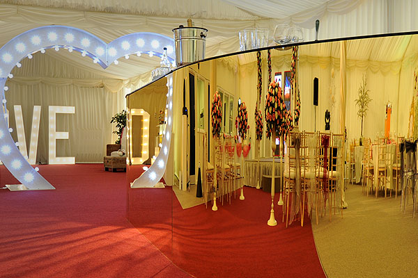 *NEW* Gold mirror bar hire