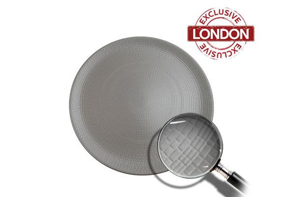 *NEW* Grey Mattone dinner plate