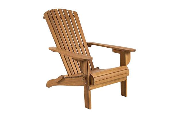*NEW* Folding hardwood armchair