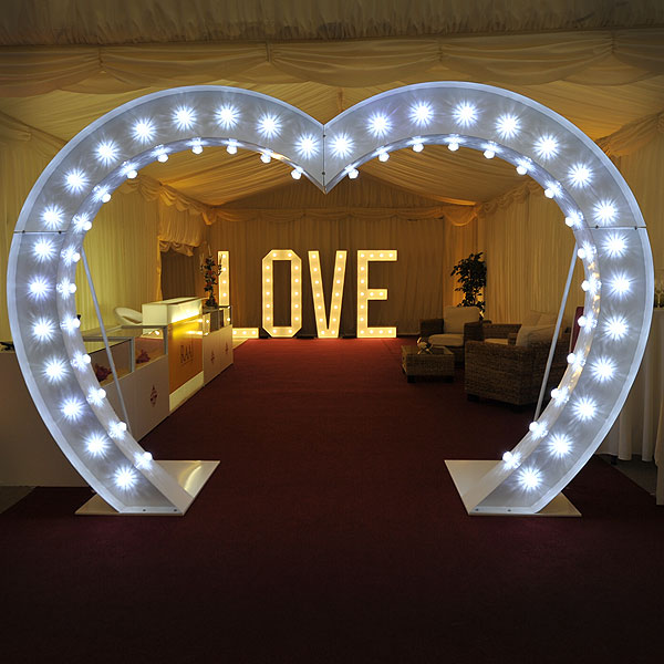 *NEW* Illuminated heart arch hire for weddings