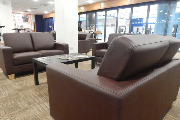 Leather furniture hire for events