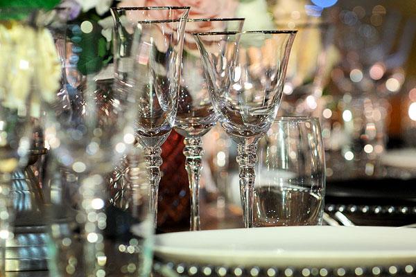 Luxury Event Glassware Hire | Event Hire UK