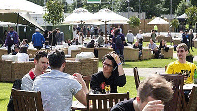 Outdoor furniture hire for Hyde Park event