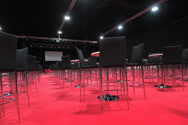 Poseur tables & stools for corporate conferences