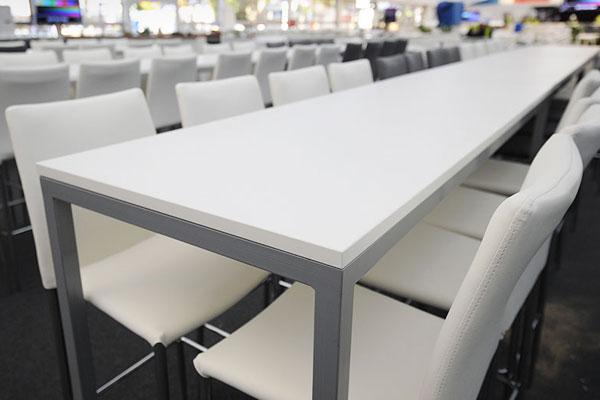 Rio high tables & matching Rio stools look fantastic!
