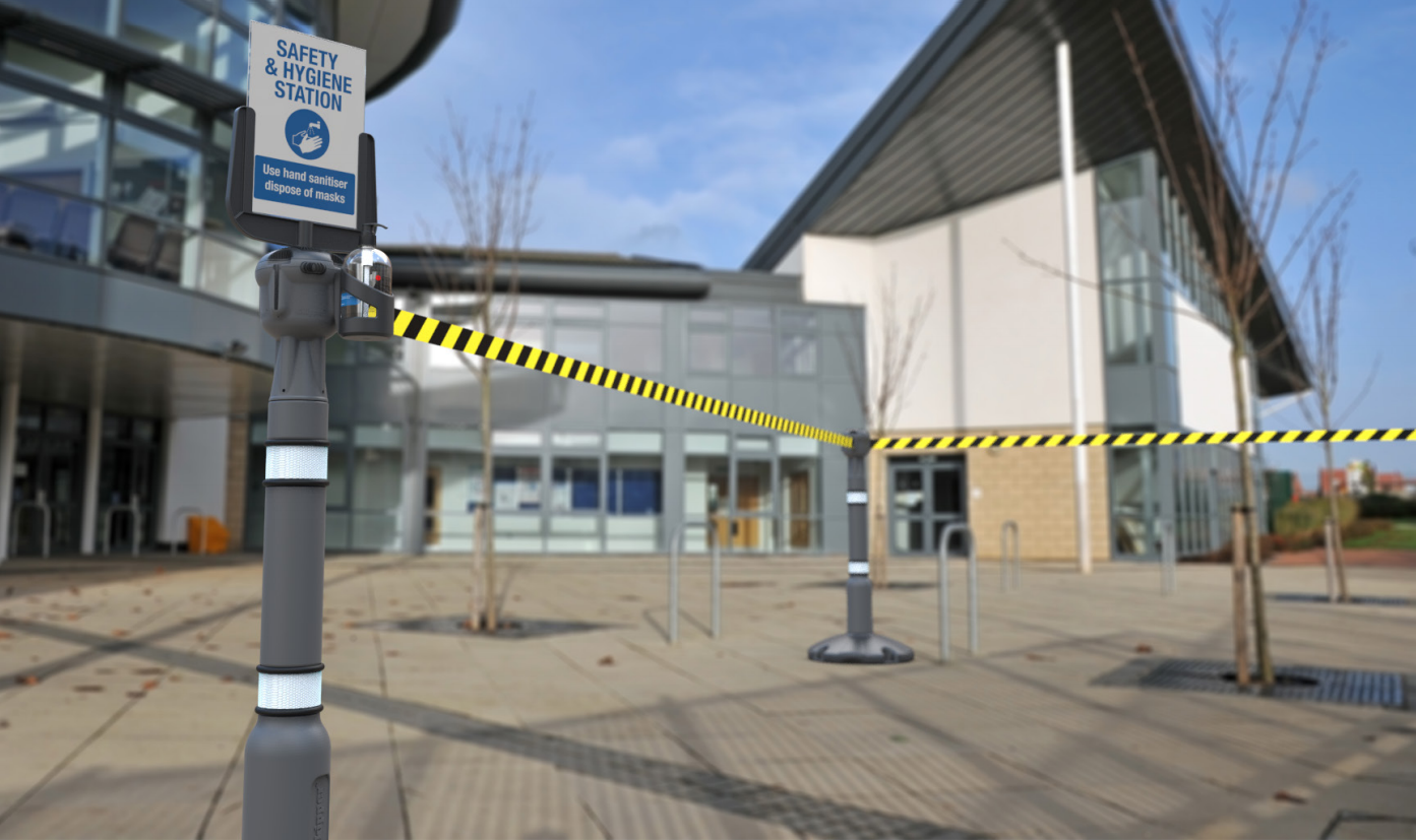 Safety barrier hire for school re-opening