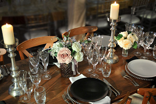 The complete range of luxury table settings