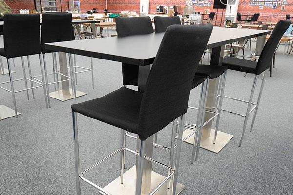 Stylish furniture hire for informal dining spaces