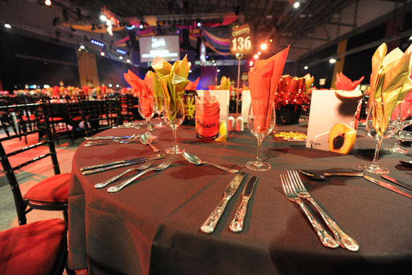 Tableware hire for large events