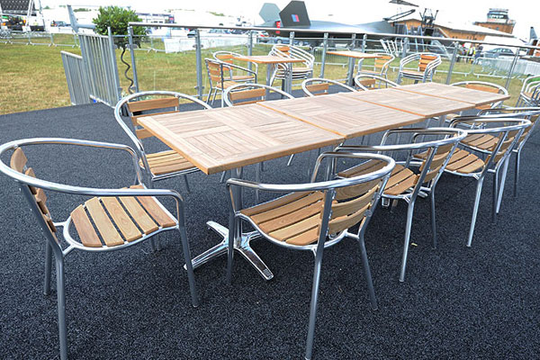 Top quality outdoor furniture is essential for large summer events