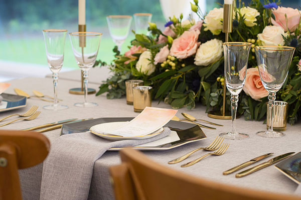 Wedding table setting rentals
