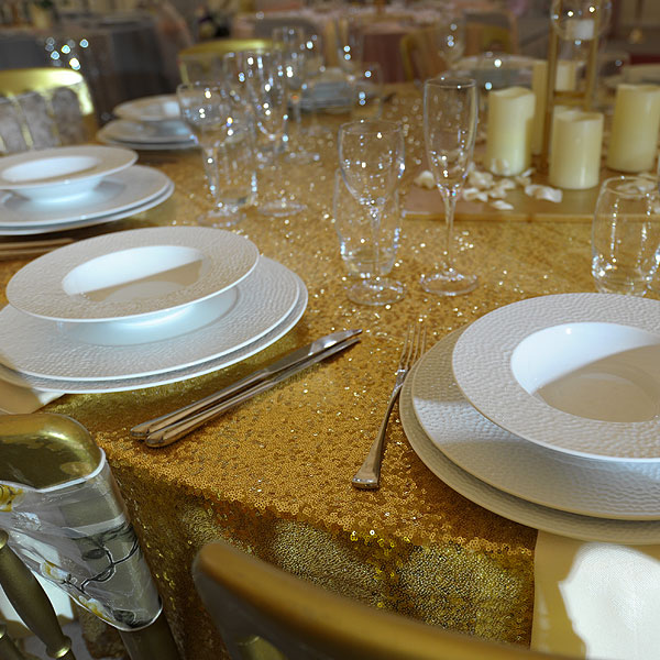 Martello Fine White China Hire