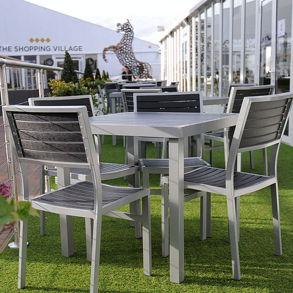 Aluminium & Hardwood Furniture Hire