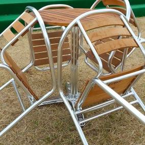 Aluminium & Hardwood Furniture Hire