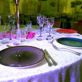 Coloured Stoneware Plates Hire