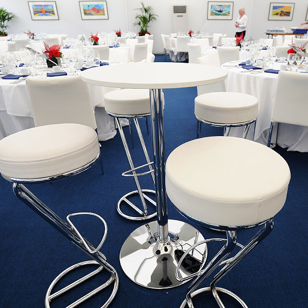 Oro Round Poseur Table Hire
