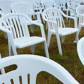 Plastic Patio & Bistro Chair Hire