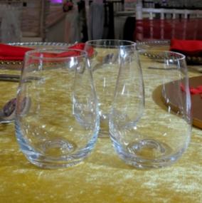Stemless Wine Glass Hire