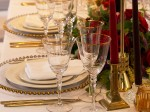 Gold Rim Stemware Glass Hire
