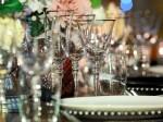 Silver Rim Stemware Glass Hire