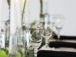 Silver Rim Stemware Glass Hire