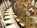 Patterned Gold Rim Stemware Glass Hire