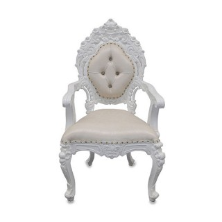 White Wedding Throne Chair