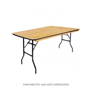 6ft x 2ft 6in Trestle Table