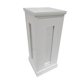 White Mirror Bar Plinth