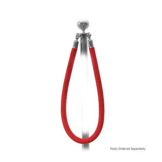 Red Barrier Rope - Chrome Ends