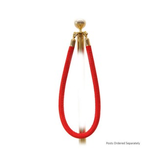 Red Barrier Rope - Gold Ends