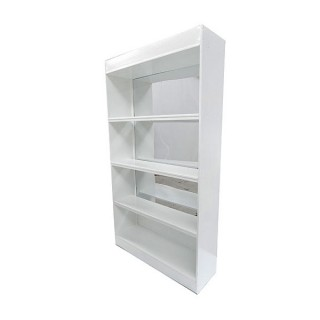 White Mirror Back Bar Unit