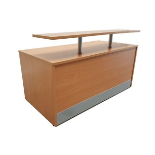 Reception Desk With Front Shelf
