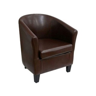 Club Chair Brown Leather