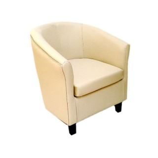 Club Chair Cream Leather