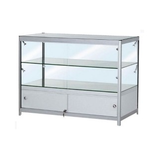 Double Tier Low Showcase With Cabinet