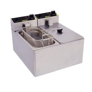 Double Tabletop Deep Fat Fryer 240v