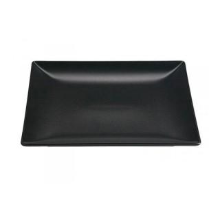 Square Black Dinner Plate