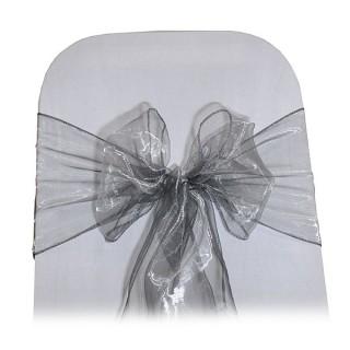 Silver Organza Chair Tie