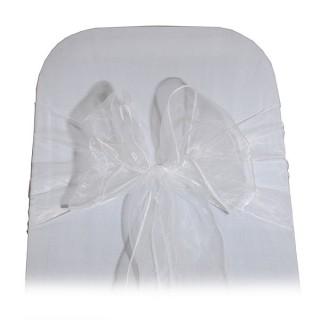 White Organza Chair Tie