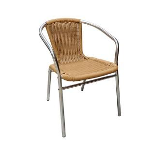Wicker & Aluminium Cafe Chair