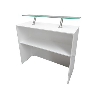Modular White Back Bar Unit 500 With Perspex Shelf